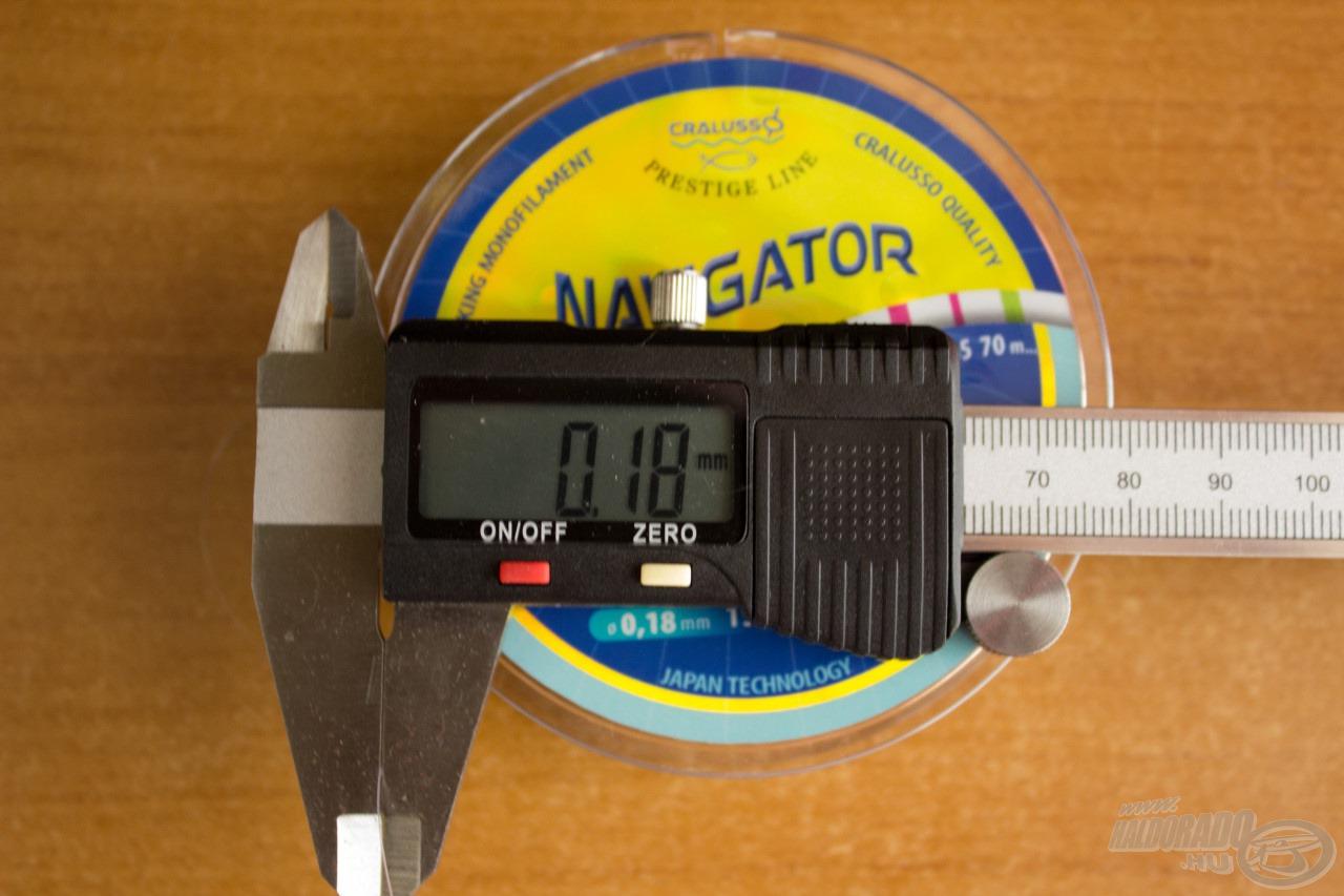 Minden Cralusso damil, így a Navigator is méretpontos! Ami 0,18 mm-es, az 0,18 mm-es. Se több, se kevesebb!