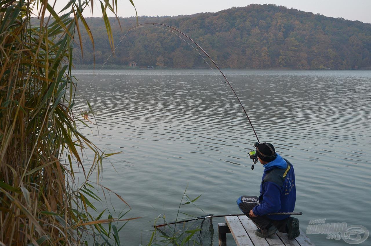 Kora reggel még egy-egy halat el lehetett csípni