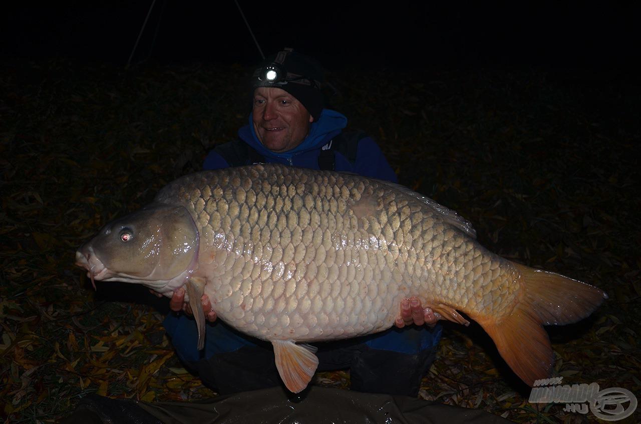 A legerősebb éjszaka 4 db 20 feletti hal akadt horgomra
