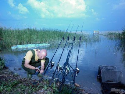 Első balatoni horgászatunk