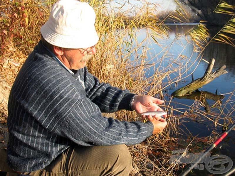 No de lássuk csak a zsákmányt, mennyi örömet lel a horgász a változatos fogásokban…