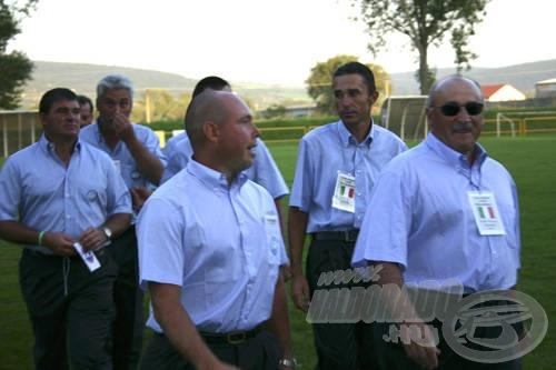 Az olasz válogatott és vezetői
