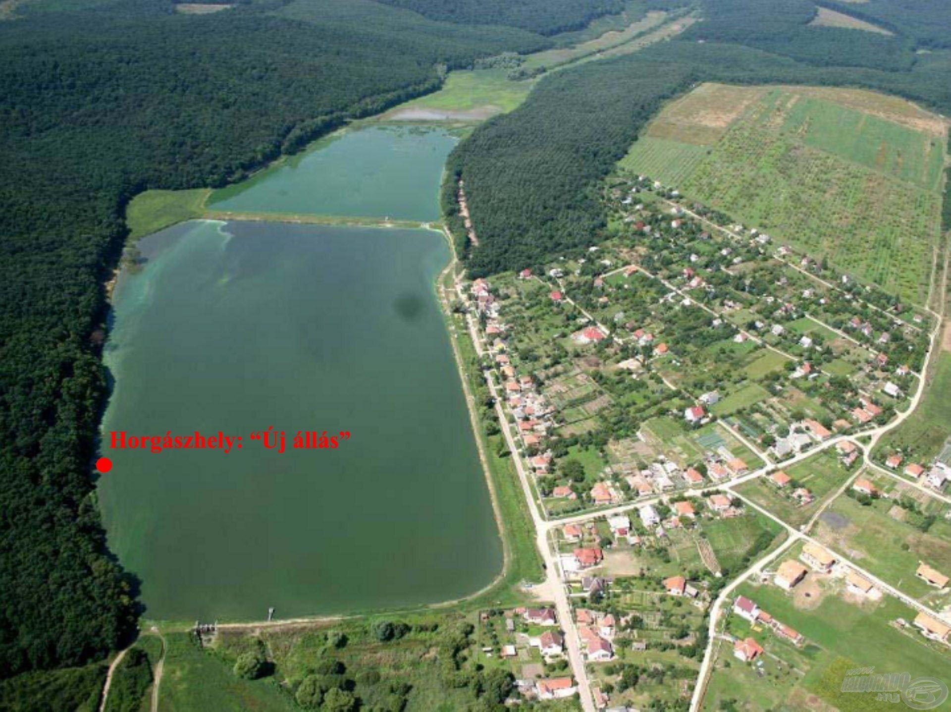 Horgászhelyemet a tó mély vizű részén választottam ki…
