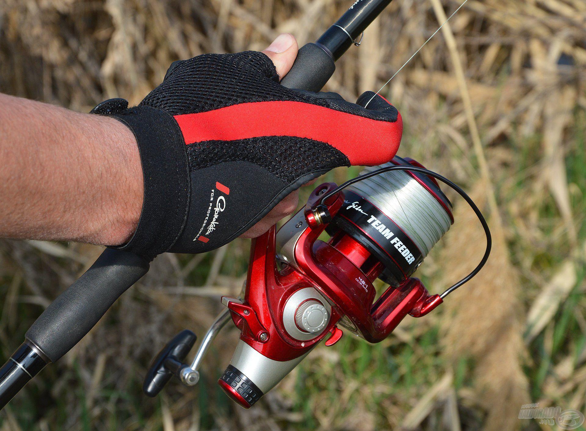 A dobókesztyű elengedhetetlen kiegészítője az itteni távdobó horgászatnak!