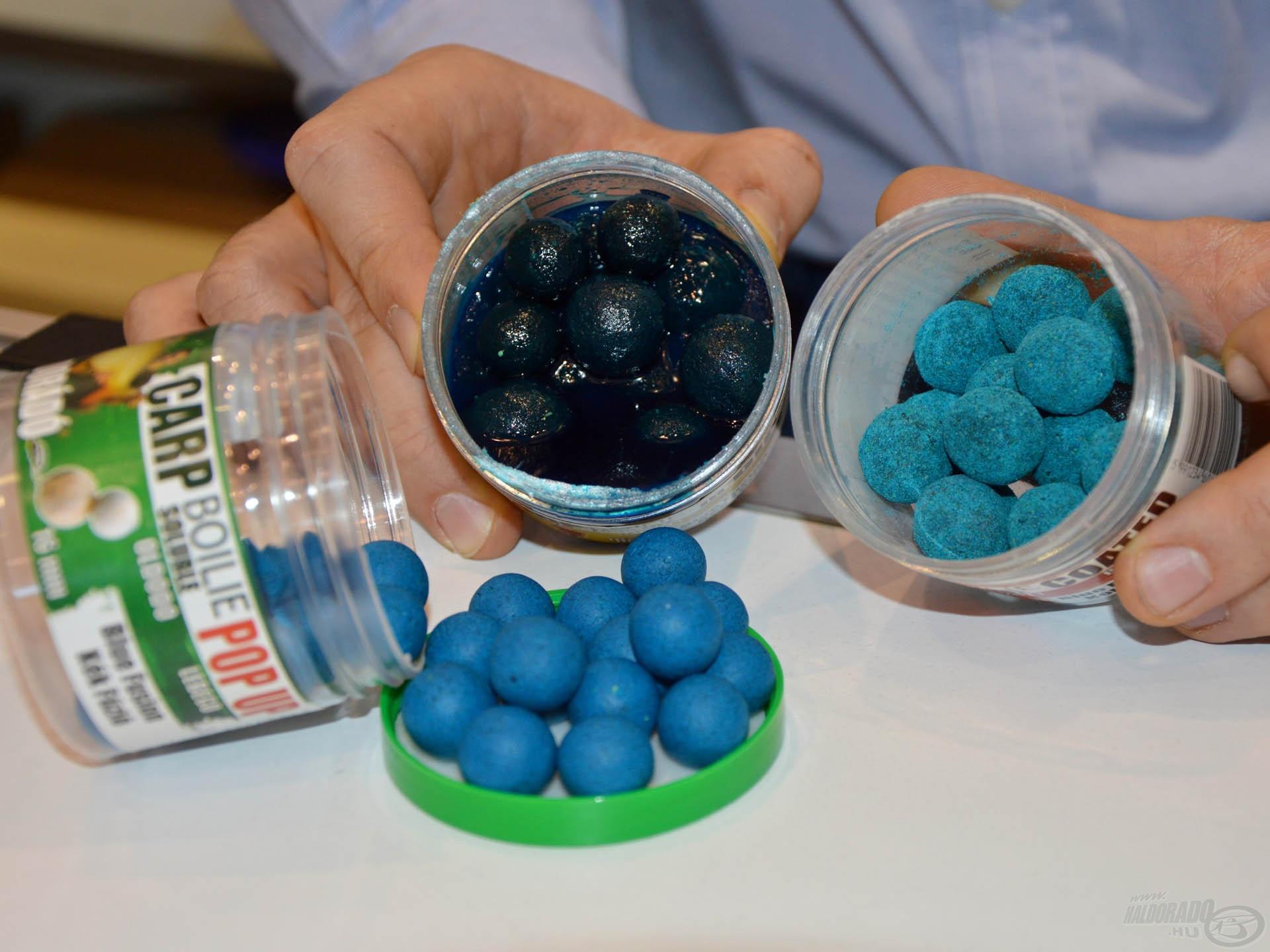 A kék golyók is szépen fogytak, hiszen egyre többen próbálnak bojlizni a természetes, nagy kiterjedésű vízterületeken
