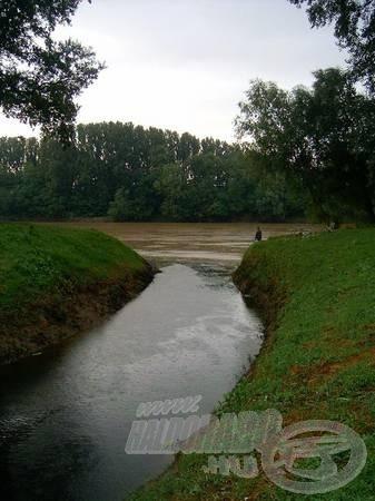 A kiválasztott vízterület egy befolyó volt a Tiszán