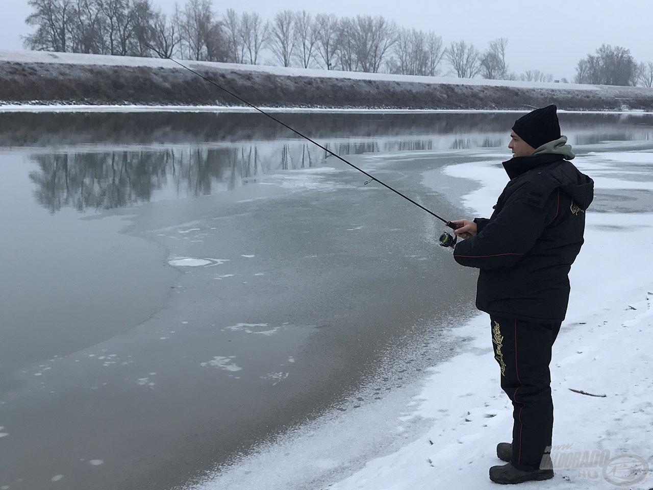 Itt lehetett dobálni, bár halat nem érintettünk