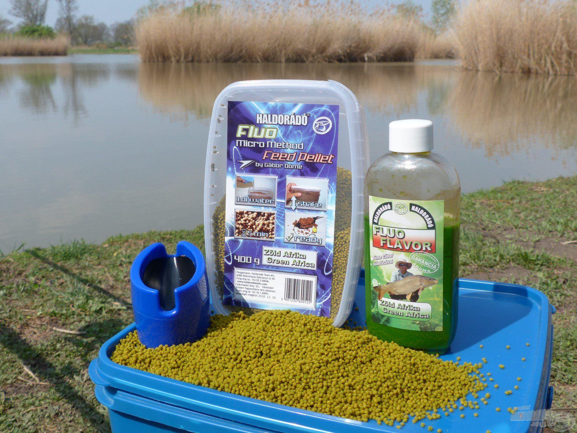 Egyszerűen elkészíthető FMMFP Zöld Afrika pellet mixszel vettem üldözőbe a halakat…
