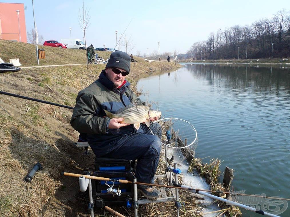 A hideg víz ellenére lehet halat fogni