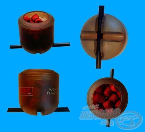 A botra rögzített csésze bevetésre készen