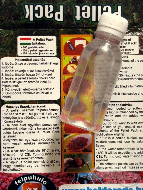 A 100 ml-es Pellet Juice üvegével könnyű kimérni a szükséges víz mennyiségét