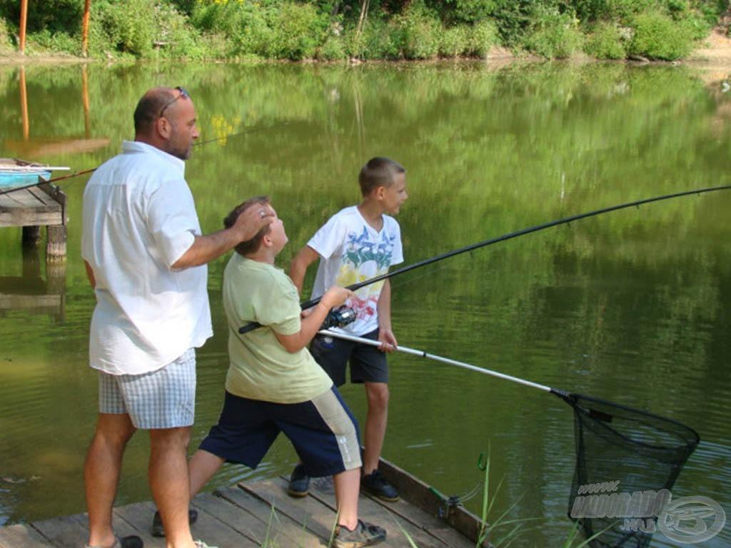 A hal nagyon küzdött, de én erősebb voltam :)