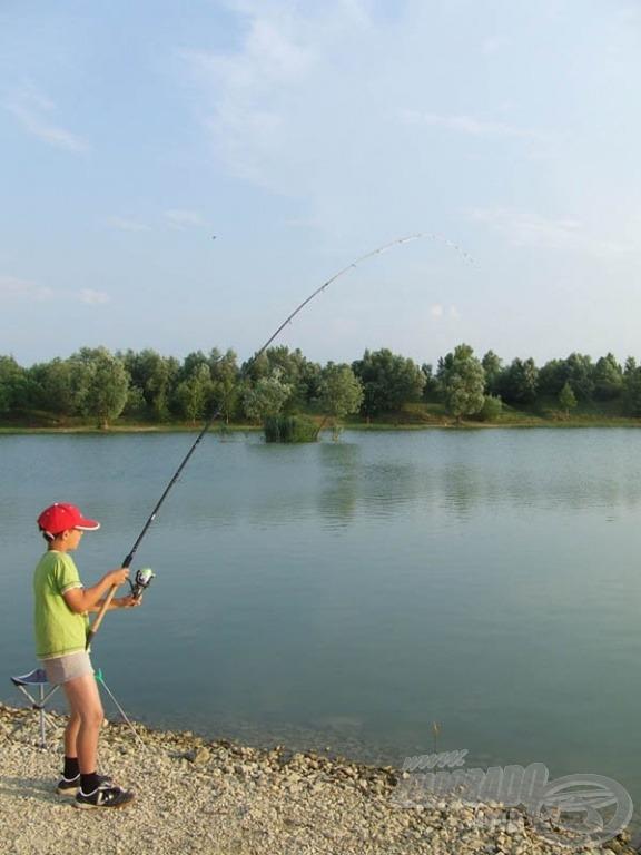 A szülői támogatással elindult horgászpályafutás