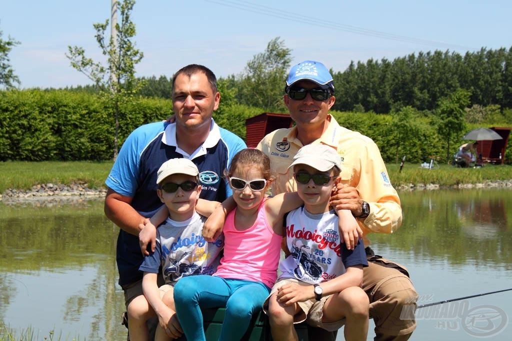 A kis horgászok és a büszke apukák