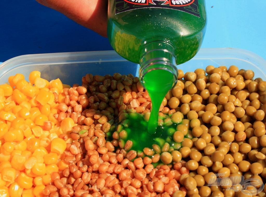 Ebbe az aromába áztatott magvakkal vagy ezzel bekevert etetőanyagokkal garantáltan az etetésünkre tudjuk csalni a torpedótestű növényevőket, feltéve, hogy vannak a környéken belőlük