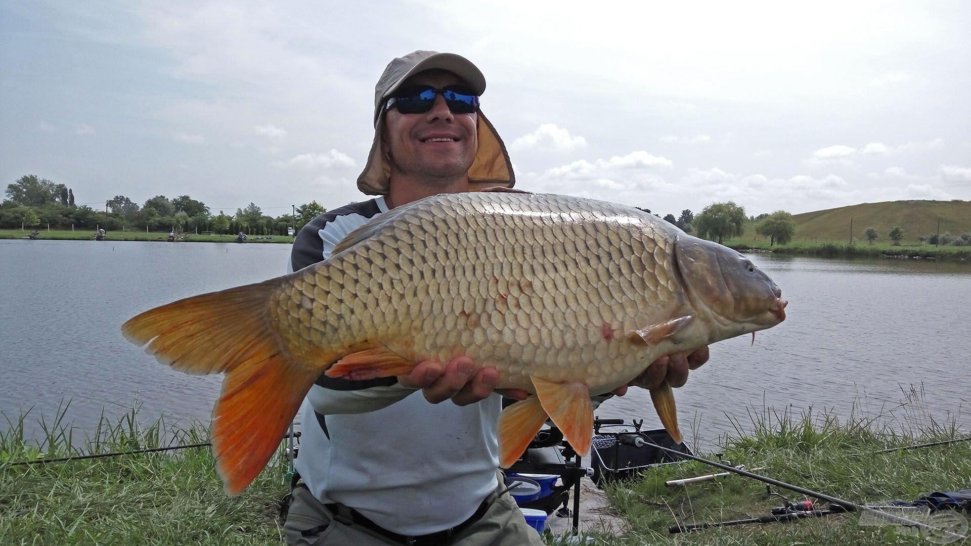 A legtöbb halat, 57.680 g-ot, Pintér Zoltán fogta ezen a napon
