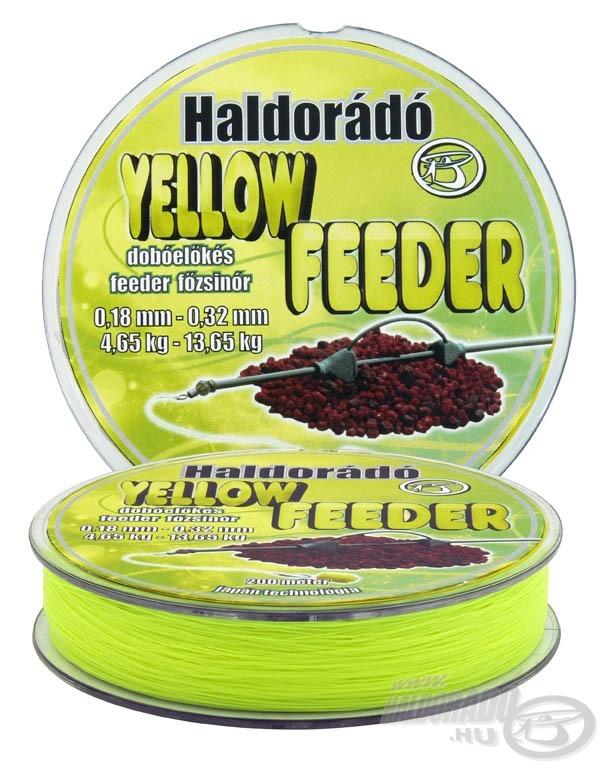 A Yellow Feeder egy dobóelőkés feeder főzsinór, amelynek első 15 métere lényegesen vastagabb, mint a damil több része
