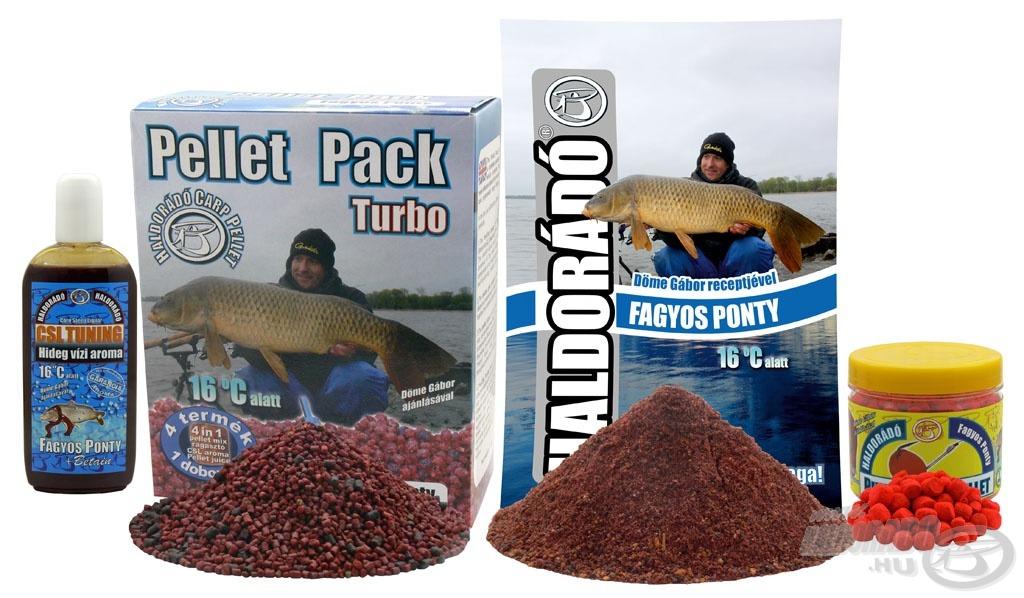 A hideg vízi horgászatokhoz kifejlesztett csalogatóanyagok a Fagyos Ponty termékcsalád tagjai