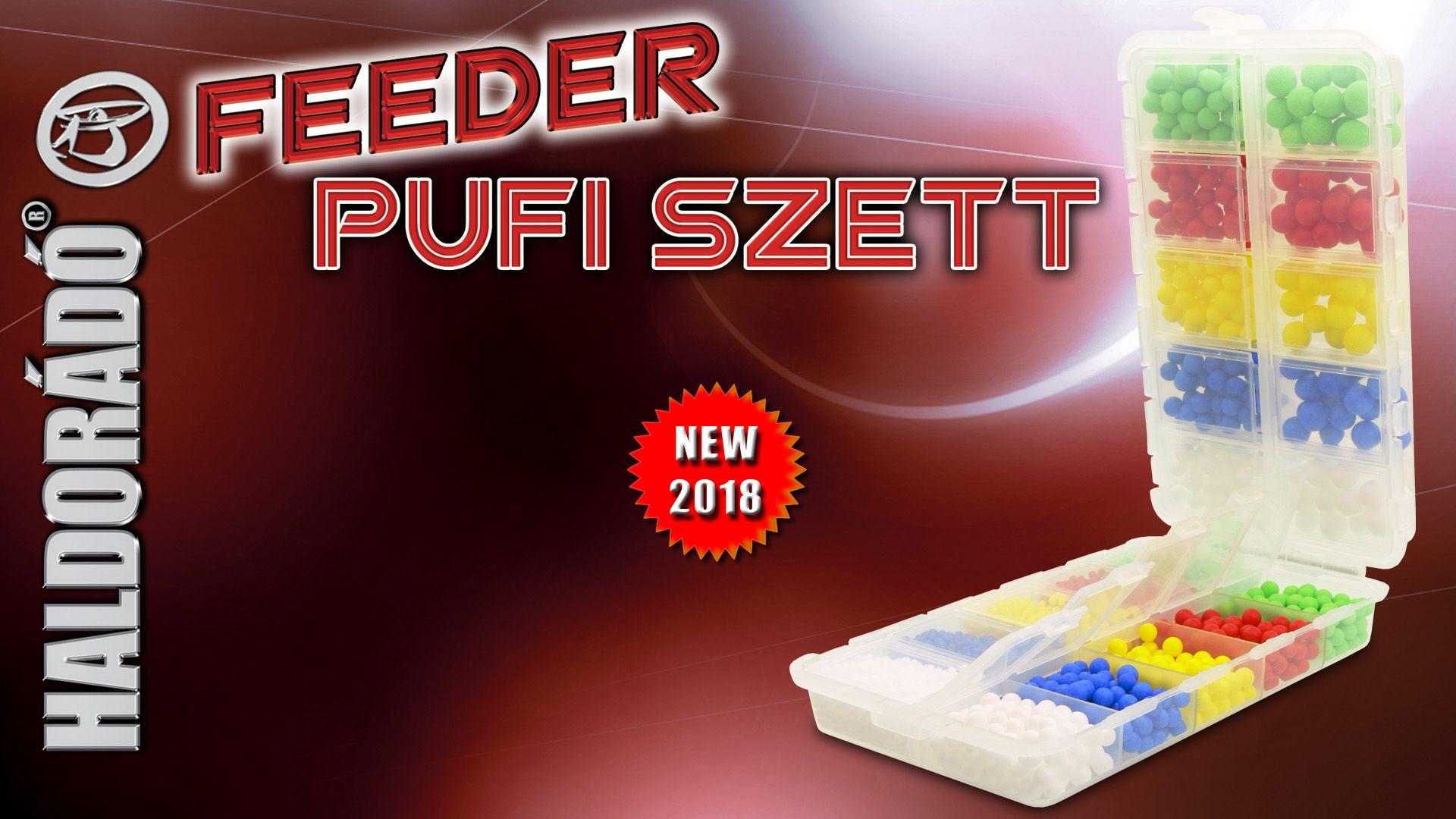 Megújult ízekkel és méretekkel jelent meg a Haldorádó Feeder Pufi szettünk, mely összesen 20 féle különböző csalit tartalmaz