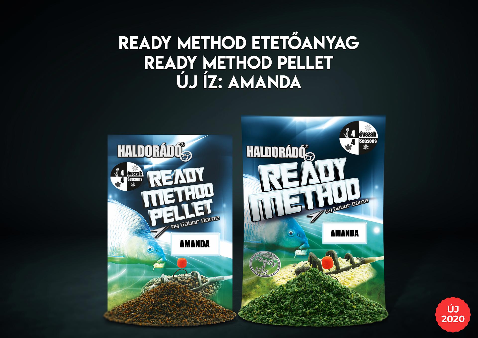 Az egyedi összetételű, komplett, használatra kész Ready Method etetőanyagok, illetve Ready Method Pelletek sora egy-egy igazán különleges újdonsággal bővül!