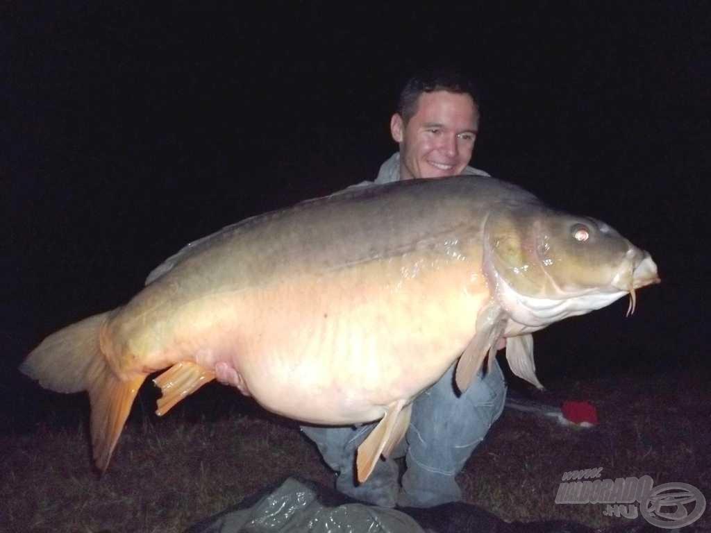 A verseny legnagyobb hala Jávorka Dani horgáról (25,54 kg)