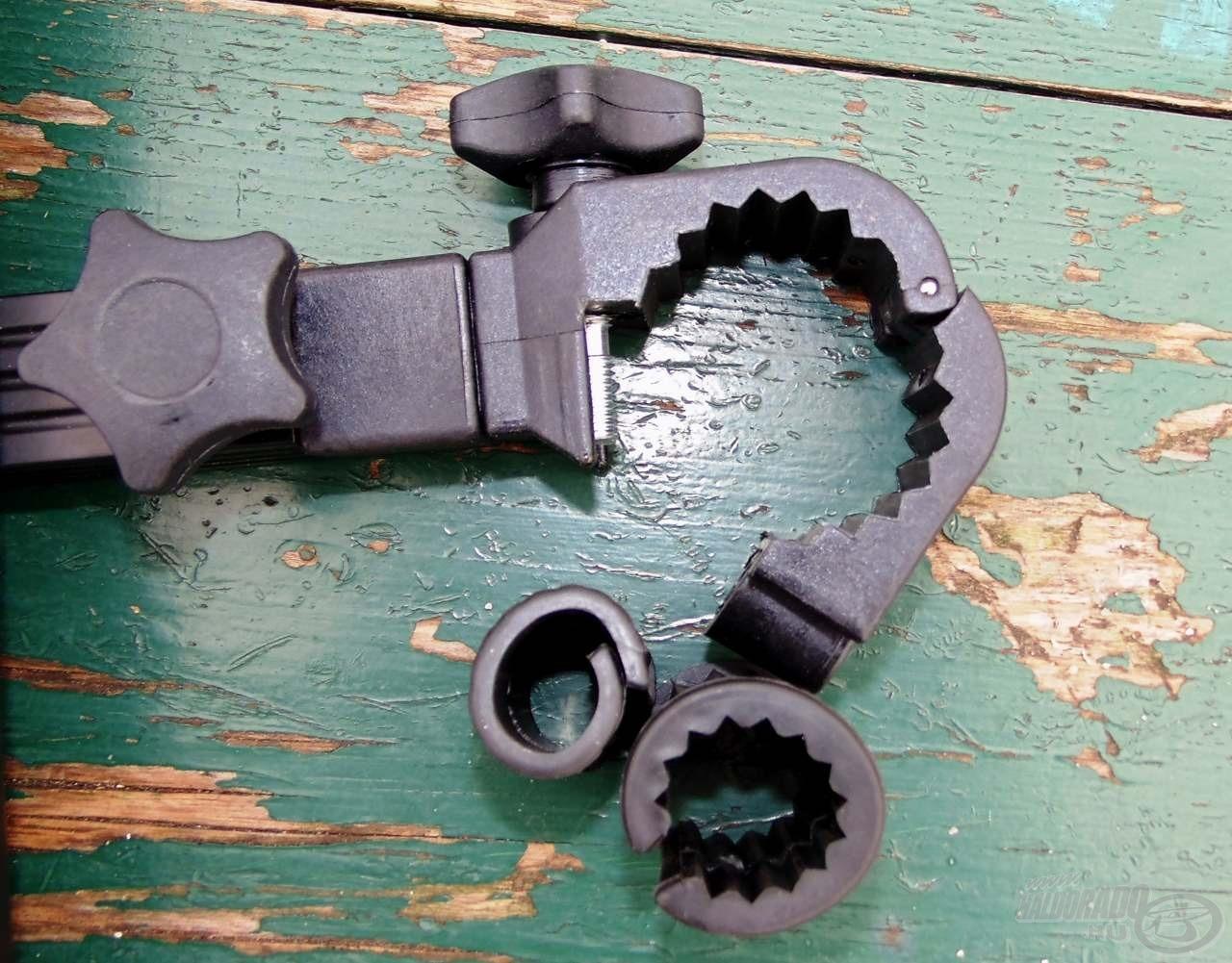 Sokoldalúan használható ez az eszköz, mivel a rögzítő adapter többféle méretű lábra is felhelyezhető