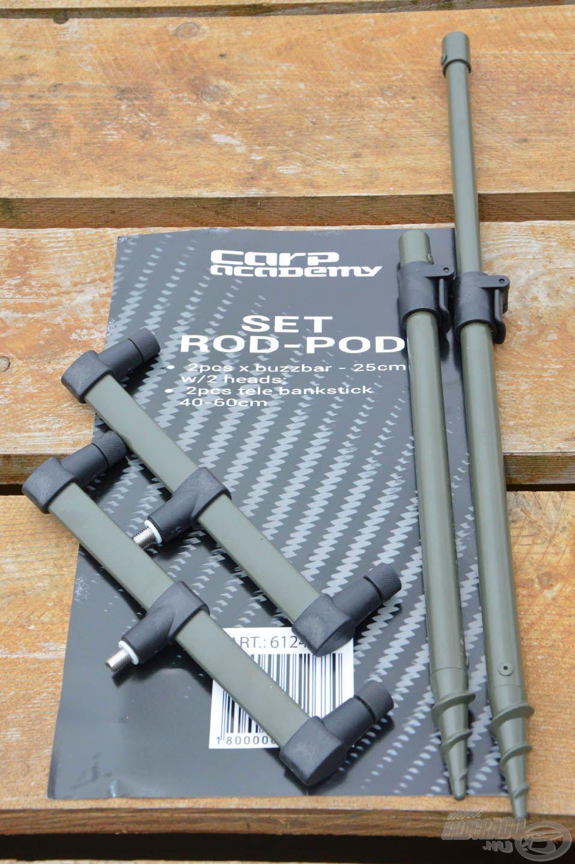 A Carp Academy Rod Pod szett egy csomagban tartalmaz két leszúrót és két kereszttartót