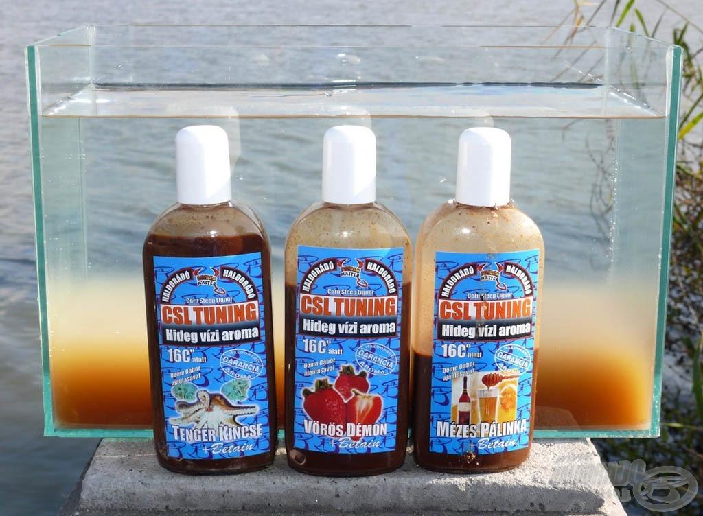 A család mindhárom tagja minimum ötszörösére képes az etetőanyag hatósugarát a hideg vízben megnövelni!!!