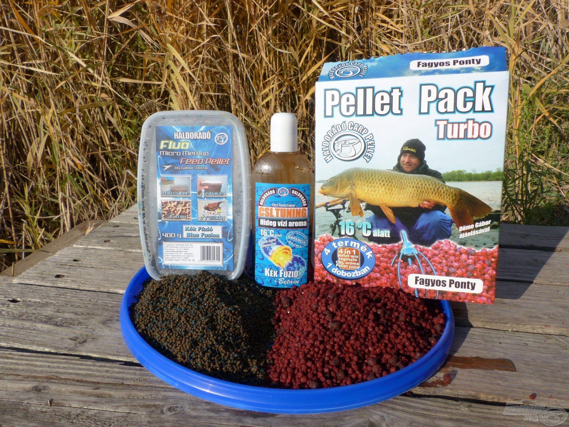 Kevés, de minőségi csalogatóanyagok a hideg vízi horgászathoz hangolva