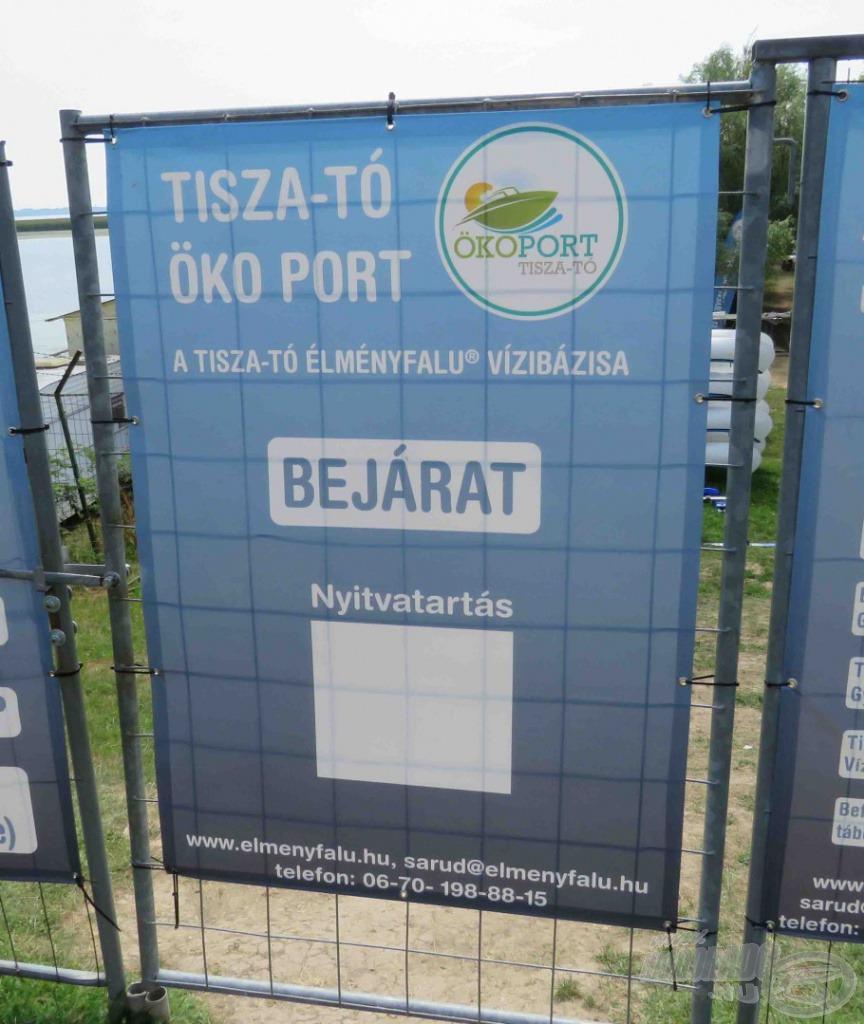 Az Öko Port bejárata