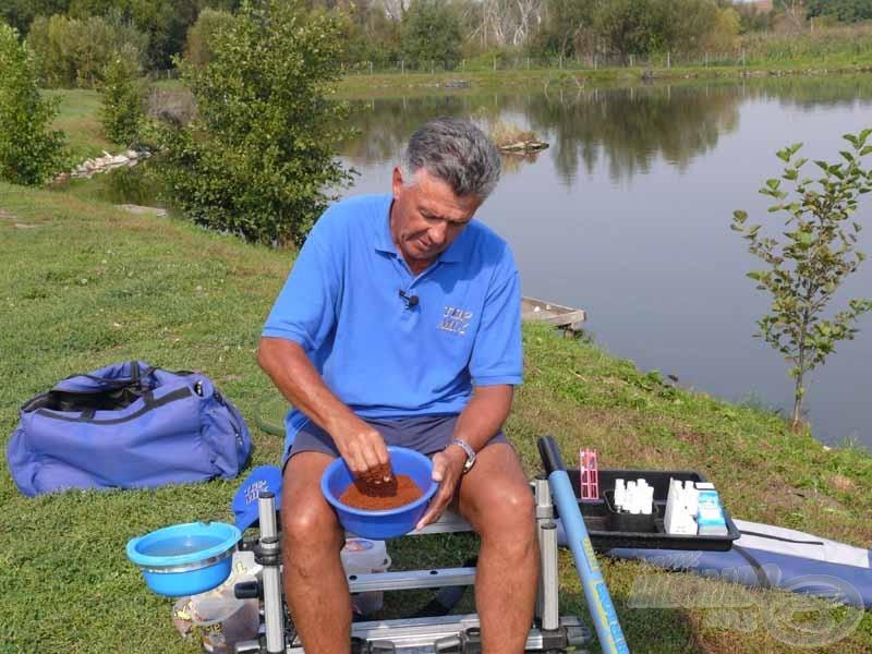 A pasztát a horgászat előtt legalább fél órával célszerű bekeverni. Még jobb, ha már otthon előkészítjük, akár a horgászatot megelőző napon
