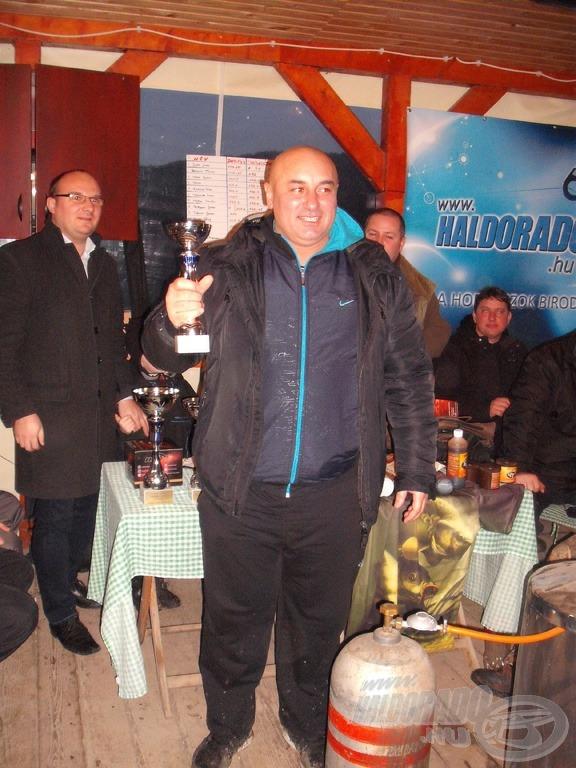 A harmadik helyezett Szeremi Ferenc lett 155,125 m-es átlaggal