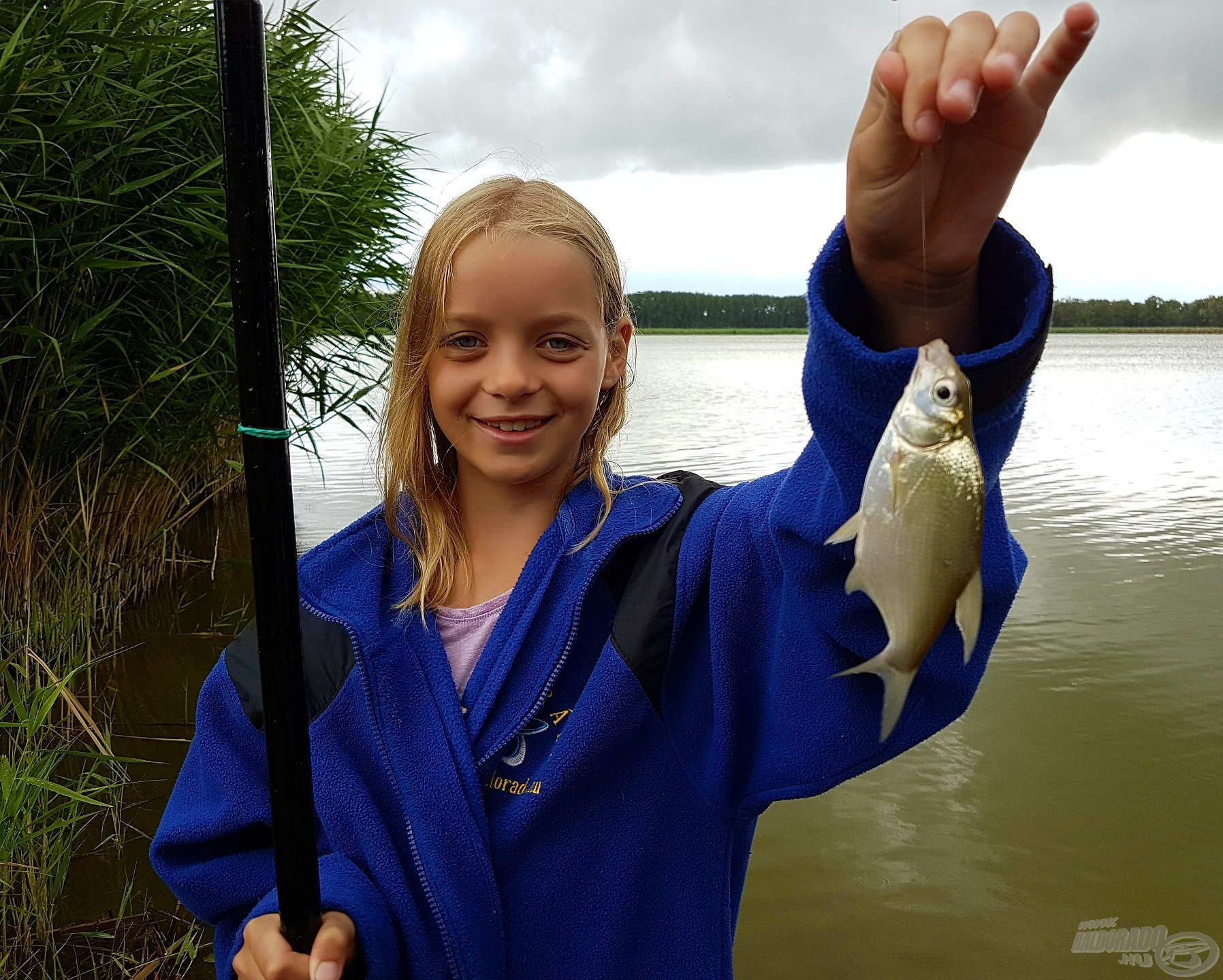 Laura utolsó hala a horgásztáborban, sajnos a másnapi versenyen egyéb elfoglaltságai miatt nem tudott részt venni