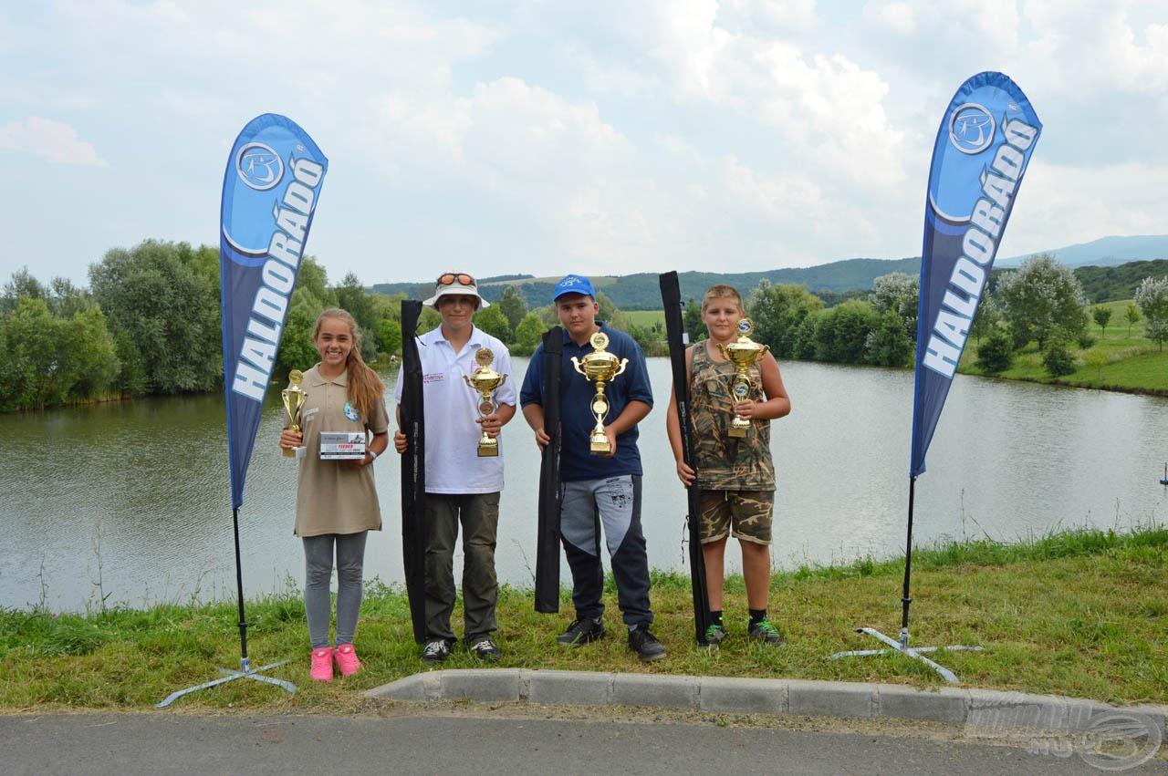 A II. Haldorádó Junior Kupa gyerek korcsoport díjazottai
