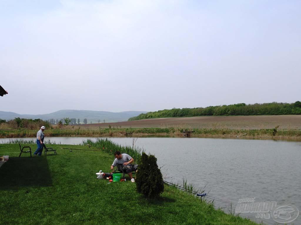 A tó belső része