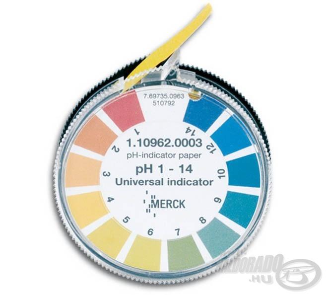 A tóvíz pH értékét, indikátor papír segítségével…