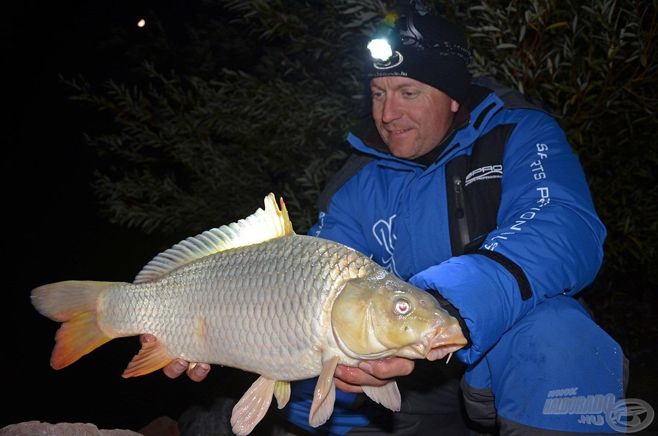 A halak mérete 1,5-2,5 kg között alakult