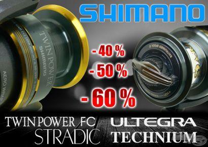 Ki mondta, hogy drágák a Shimano termékek?Shimano TOP orsói akár 40-50% kedvezménnyel, csak a Haldorádón!!!