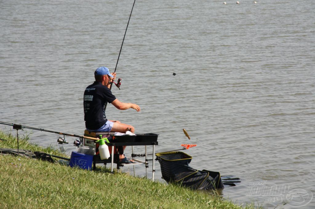 Már mindenki tudja hol fog ma horgászni, rögtönzött csapat megbeszélés zajlik