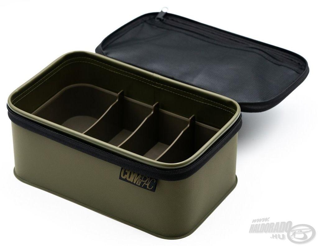 A Korda Compac 150 a Tackle Safe Edition kiadású belső rekesszel ellátott táskája