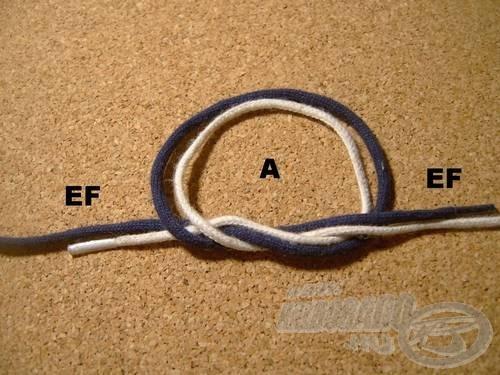 Vegyük át az (EF) szálakat az (A) hurkon