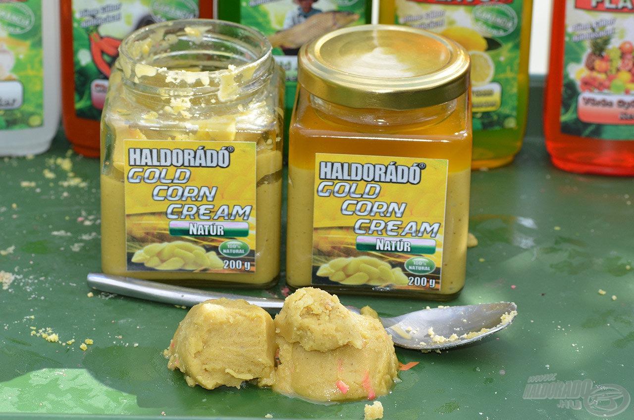 A Gold Corn Cream a kukoricacsíra legértékesebb összetevője, amely immár a horgászok számára is elérető! Magas fehérjetartalmú tápanyag- és vitaminforrás, amelyben megtaláljuk az esszenciális aminosavakat és zsírsavakat is. 100%-ban természetes anyag, amelynek eredményes felhasználásában csak a fantázia szab határt!