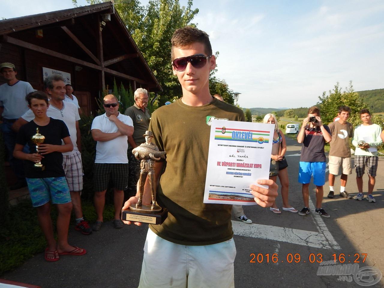 Gál Tamás, legjobb külföldi horgász