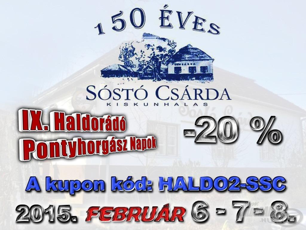 Nyomtasd ki ezt a kupont, amely 20% kedvezményt jelent a Sóstó Csárdában és Motelben ételfogyasztásnál vagy szállásfoglalásnál!