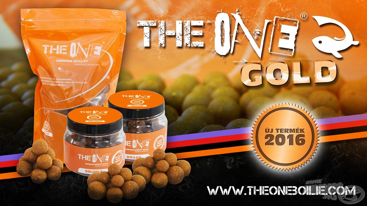 Itt debütál a THE ONE Gold termékcsalád! A termékpaletta azonban nem csak bojlikkal bővül. A többi termék legyen meglepetés!