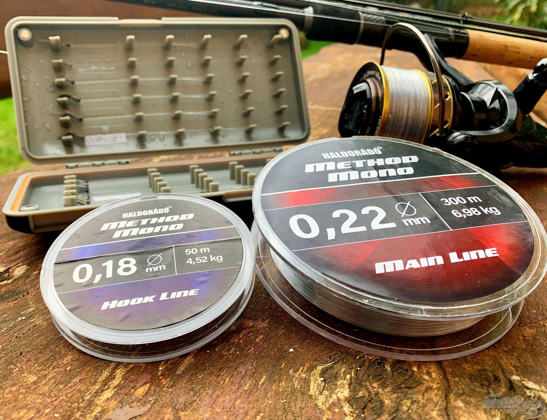 Mindkét versenyző Haldorádó Method Mono Main Line 0,22 mm-es főzsinórt és Method Mono Hook Line 0,18 mm-es előkezsinórt használt