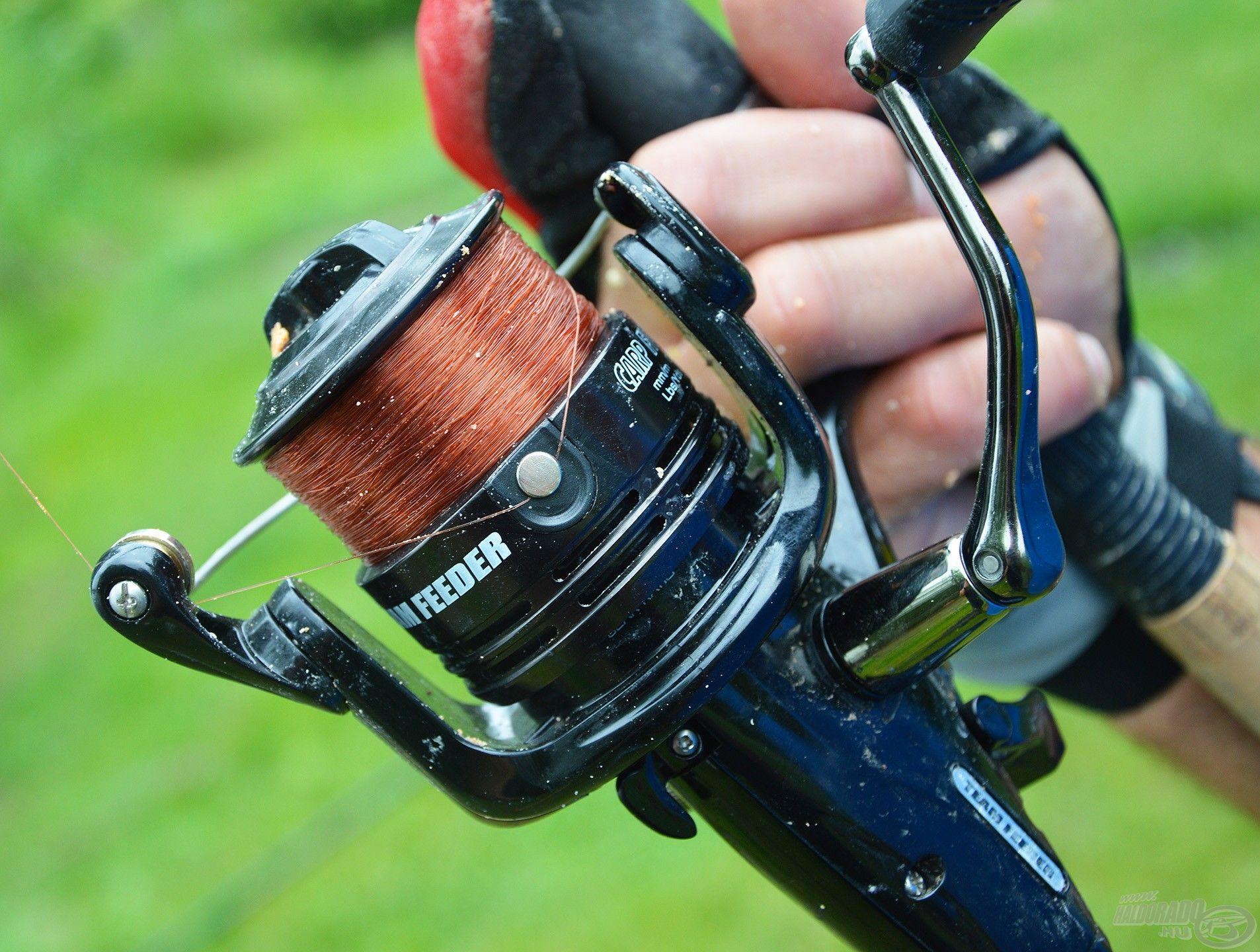 A zsinór kiakasztása nagyban segíti a pontos horgászatot