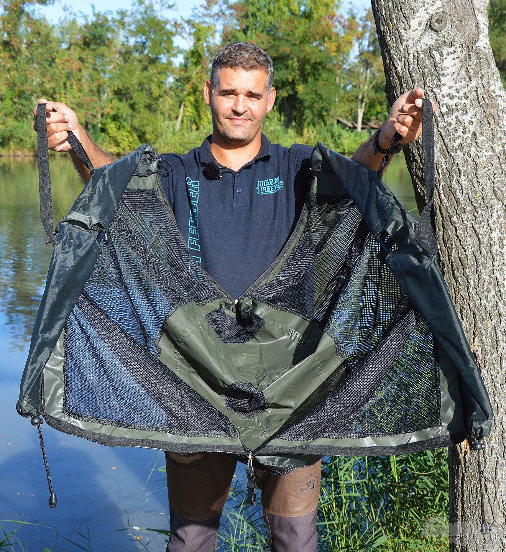 A Carp Academy Luxxus mérlegelőben a nagyobb halak is biztonságosan mérhetőek
