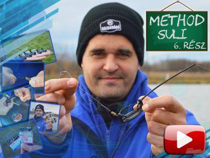 Method suli 6. rész – Csúszó method flat feeder végszerelék összeállítása, lapkás horog kötése