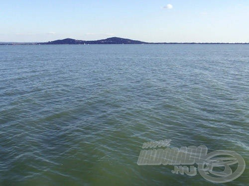 Az első teszt színhelye: Balaton, északi part, nyílt víz